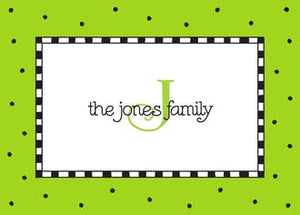 Checks & Dots Lime Gift Enclosure Card or Gift Sticker