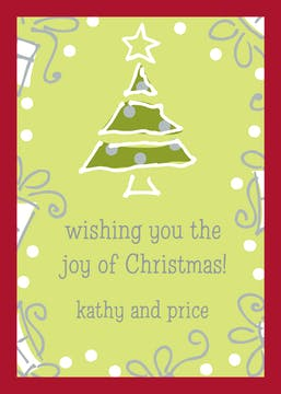 O Christmas Tree! Gift Enclosure Card or Gift Sticker