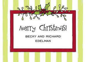 Mistletoe & Stipes Gift Enclosure Card or Gift Sticker