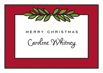 Garland Red & Green Gift Enclosure Card or Gift Sticker