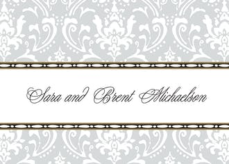 Damask Silver Gift Enclosure Card or Gift Sticker