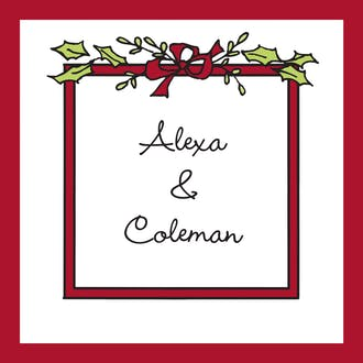 Christmas Greenery Gift Enclosure Card or Gift Sticker