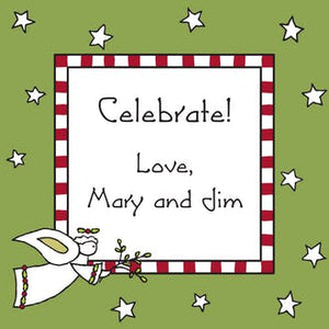 Angel & Stars Gift Enclosure Card or Gift Sticker