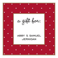 Tiny Dots Red Gift Enclosure Card or Gift Sticker