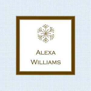 Linen Blue & Chocolate Gift Enclosure Card or Gift Sticker