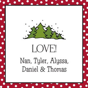 Dotted Edge Red & Black Gift Enclosure Card or Gift Sticker