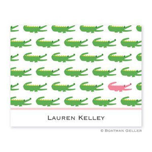 Alligator Repeat Folded Notes (2 Colors)