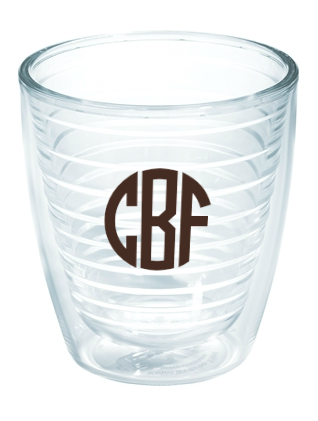 Monogrammed Tervis Tumblers - 12 oz Cocktail Size