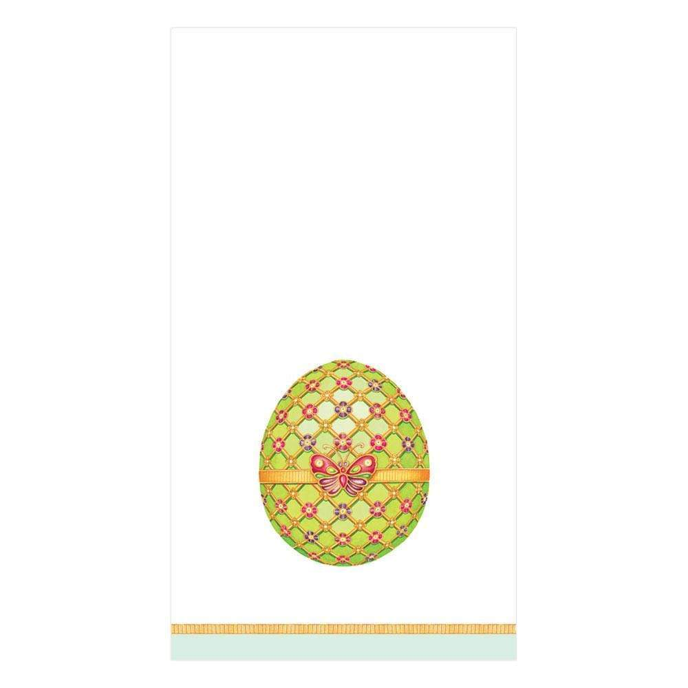 Caspari Imperial Eggs Guest Towel