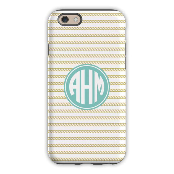 Rope Stripe Gold Phone Case