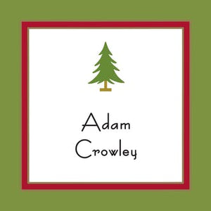 Red Border & Green Edge Gift Enclosure Card or Gift Sticker