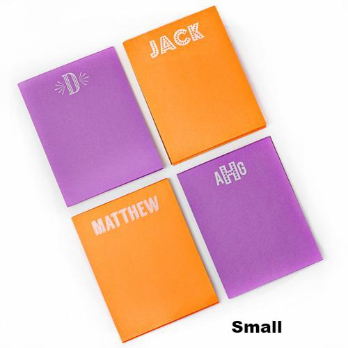 Design Your Own White On Bright Notepad