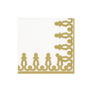 Dessin Passementerie Gold Cocktail Napkins