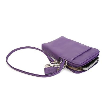 Monogrammed Leather Phone Camara Wristlet