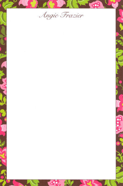 Brown Floral Notepads