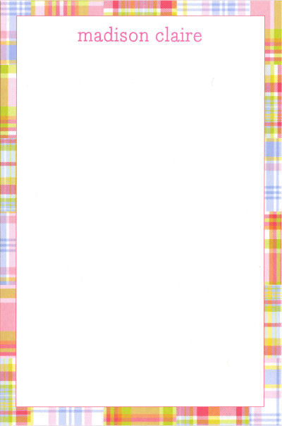 Pink Madras Patch Notepads