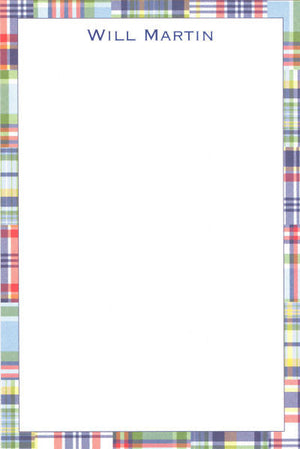 Blue Madras Patch Notepads