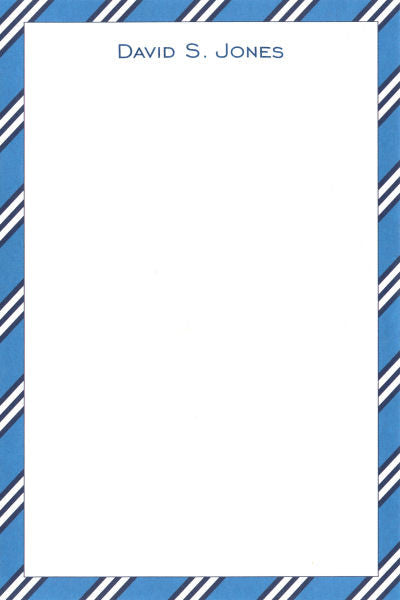 Blue & Navy Repp Tie Notepads