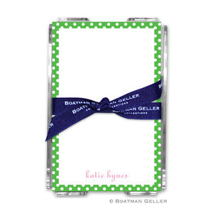 Dot Green Notepad