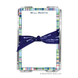 Madras Patch Blue Notepad