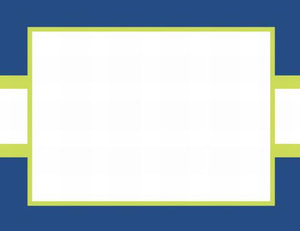 Stripe Navy and Lime Flat Notecard