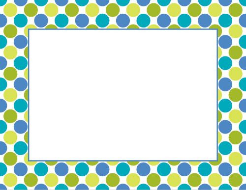 Big Dots Cool Flat Notecard