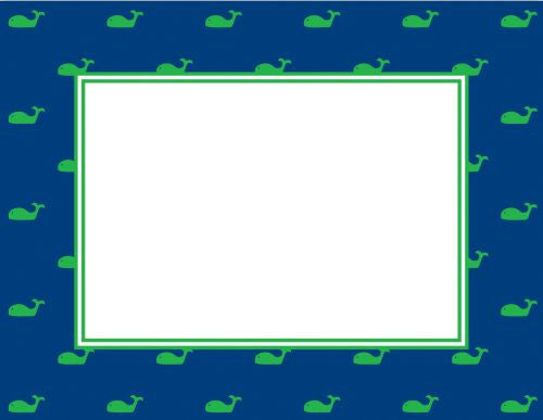 Whale Blue Flat Notecard