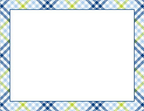 Check Blue and Green Flat Notecard