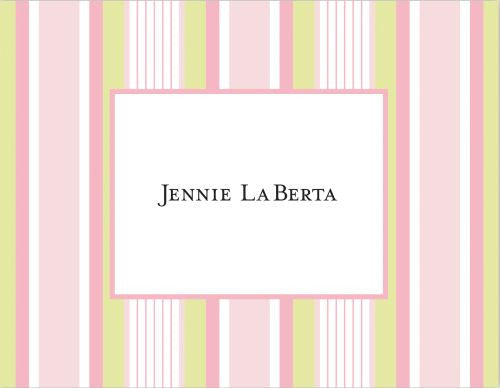 Multistripe Pink Folded Notes