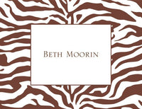Brown Zebra Folded Notes