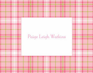 Plaid Folded Notes (2 Colors)