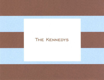 Blue & Brown Rugby Stripe Folded Notes