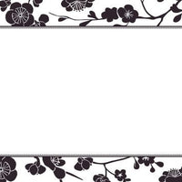 Blossom Black Flat Notecard