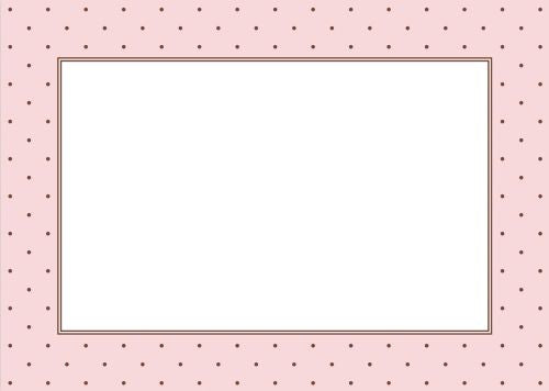Brown Dot with Pink Flat Notecard