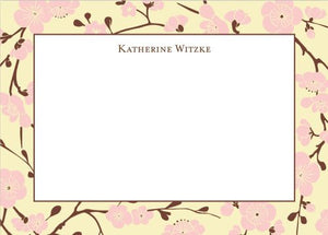 Blossom Pink Flat Notecard