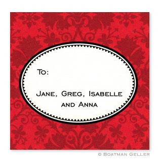 Damask Red Stickers