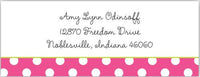 Dots Pink Address Label