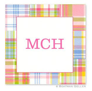 Madras Patch Pink Stickers