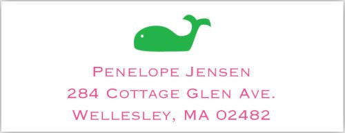 Whale Address Label