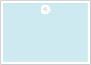 Sand Dollar Flat Notecard