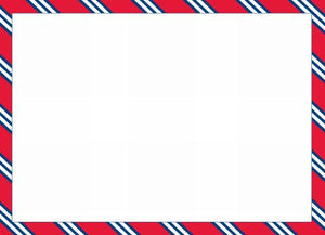 Repp Tie Red and Navy Flat Notecard