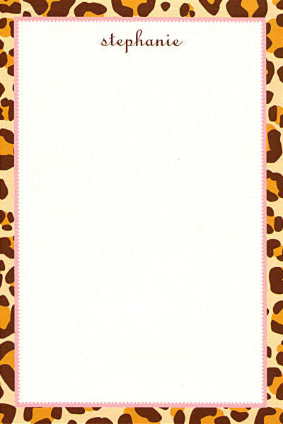 Brown Leopard Notepads