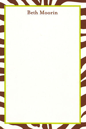 Brown Zebra Notepads