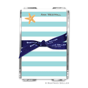 Stripe Starfish Notepad
