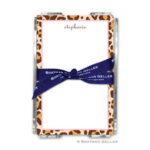 Leopard Brown Notepad