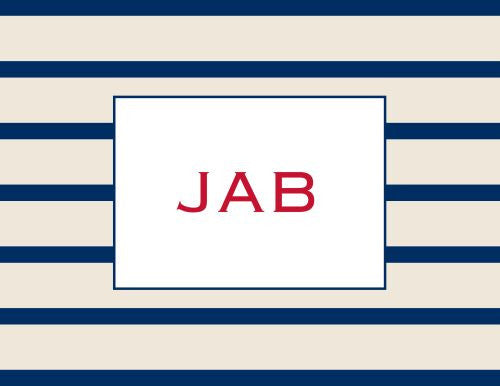 Nautical Stripe Foldover Note