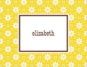 Medallion Yellow Foldover Note
