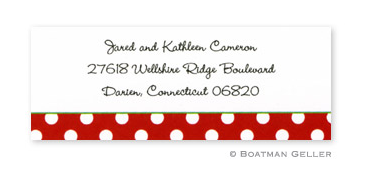 Dot Red with Green Address Label
