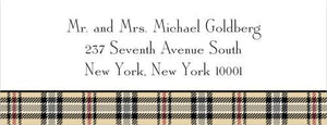 Town Plaid Address Label