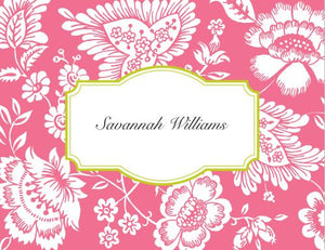 Savannah Pink Foldover Note